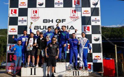 """Отборът на """"Вагонен завод – Интерком"""" RT завърши на второ място в 8 часовото състезание по картинг на писта Кюстендил"""